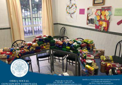 Más de 200 kg de alimentos para Cáritas parroquial