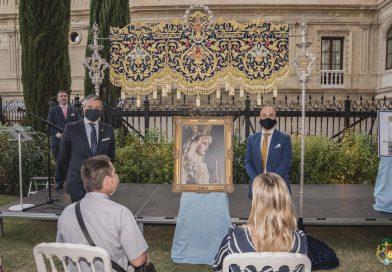 Fotografías del acto de presentación de la Bambalina frontal del nuevo palio de Mª. Stma. de la Concepción Coronada