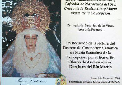 La estampa del Decreto de Coronación Canónica
