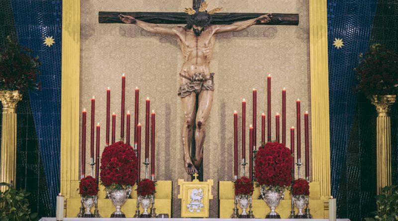 El Santísimo Cristo de la Exaltación durante el Triduo Sacramental